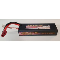 LiPo batteri 2s 7,4v 5200 mAh 50c T-plug Deans-stik hardcase