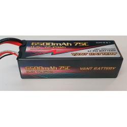 LiPo batteri 3s 11,1v 6500 75c hardcase