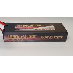 LiPo batteri 2s 7,4V 4800mAh 50c hardcase