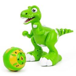 Fjernstyret dansende dinosaur til de mindste børn - med damp og lyd