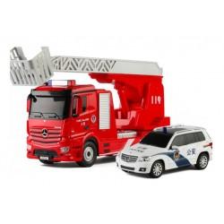 Fjernstyret Mercedes-Benz Antos brandbil og politibil