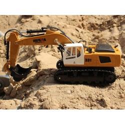 Fjernstyret gravemaskine med autograv - fuld styrbar!