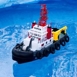 Fjernstyret slæbe- og brandslukningsbåd - med vandsprøjte!