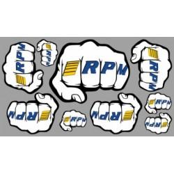 RPM Decal Sheet Fist Logo RPM - 70020