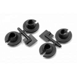 RPM Shock Spring Cups Black (4) - 73152