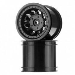 "RPM Wheels Revolver 2.2"" Black (2) Rustler, Stampede - 2WD Rear - 82052"