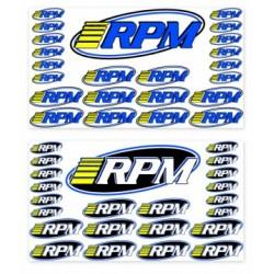 RPM Decal Sheet Pro Logo RPM (2) - 70005