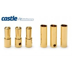 Castle Creations 4mm Bullet Connectors 3pairs 75A - CC-BULLET-4MM