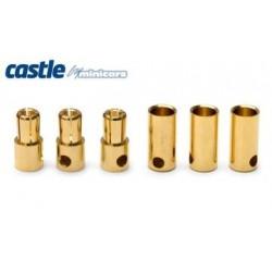 Castle Creations 5.5mm Bullet Connectors 3pair 150A - CC BULLET 5.5MM