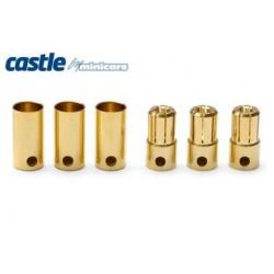 Castle Creations 6.5mm Bullet Connectors 3pair 200A - CC BULLET 6.5MM