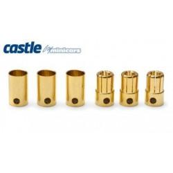 Castle Creations 8mm Bullet Connectors 3pair 300A - CC BULLET 8MM