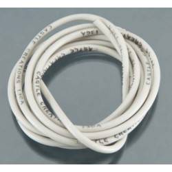 """Castle Creations WIRE, 60"""", 13 AWG, WHITE - 011-0035-00"""