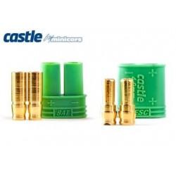 Castle Creations Polarized Bullet Conn. 4mm 1pair - 011-0065-00