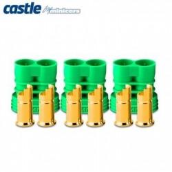 Castle Creations Polarized Bullet Conn. Female 6,5mm Set - 011-0069-00