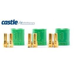 Castle Creations Polarized Bullet Conn. Male 4mm 3set - 011-0075-00