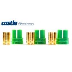 Castle Creations Polarized Bullet Conn. Female 4mm 3 set - 011-0076-00