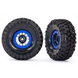 "Traxxas 8182 Tires & Wheels Canyon Trail/ Method 105 Black Chrom 1.9"" (2)"