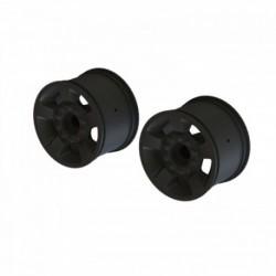 ARRMA 1/10 Front/Rear 2.8 Wheels 14mm Hex Black (2)