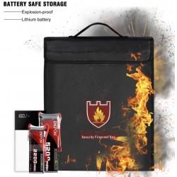 Stor luksus vand og brand- og eksplosions-sikker pose - med lynlås og hank