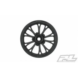 """Proline Wheels Pomona Drag Spec 2.2"""" Black Front (2) Slash"""