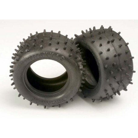 "Traxxas 1970 Tires, low-profile spiked 2.2"" (2)"