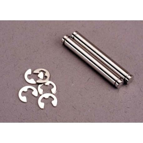 Traxxas 2635 Suspension pins, 23mm hard chrome (2)/ E-clips (4)