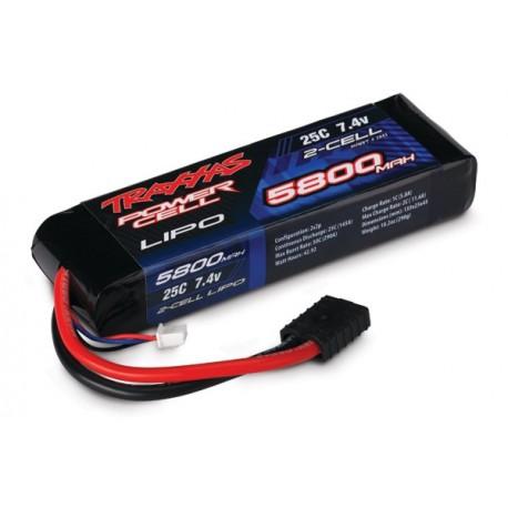 Traxxas 2843 5800mAh 7.4v 2-Cell 25C LiPO Battery