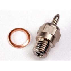 Traxxas 3230 Glow plug, standard (long-hot)/ gasket