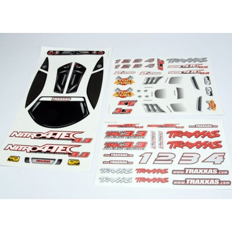 Traxxas 4813X Decal sheet, Nitro 4-Tec 3.3