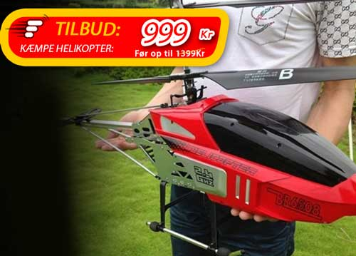 Kæmpe fjernstyret helikopter