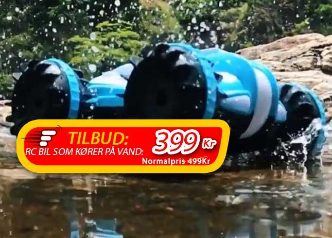 Denne fjernstyret bil kan køre over ALT - inkl. oven på vand!